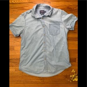 Topman short sleeve button down shirt size large